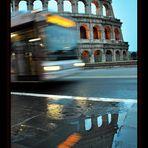 Fermata Colosseo...per fare la foto ho perso l'autobus.