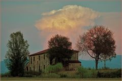 ferme abandonnée en campagne toscane !