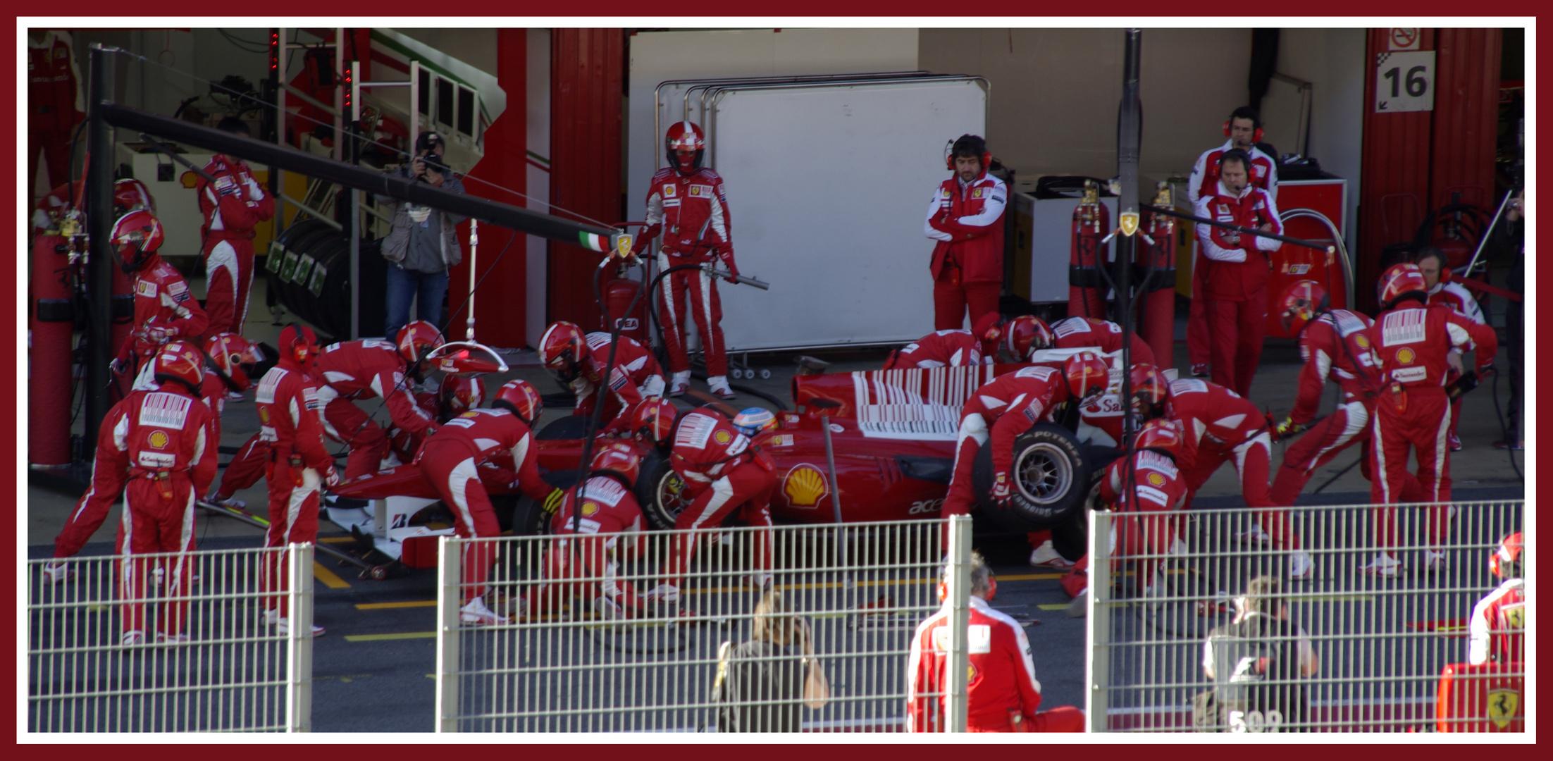 Fernando Alonso y Ferrari. Trabajando en equipo.