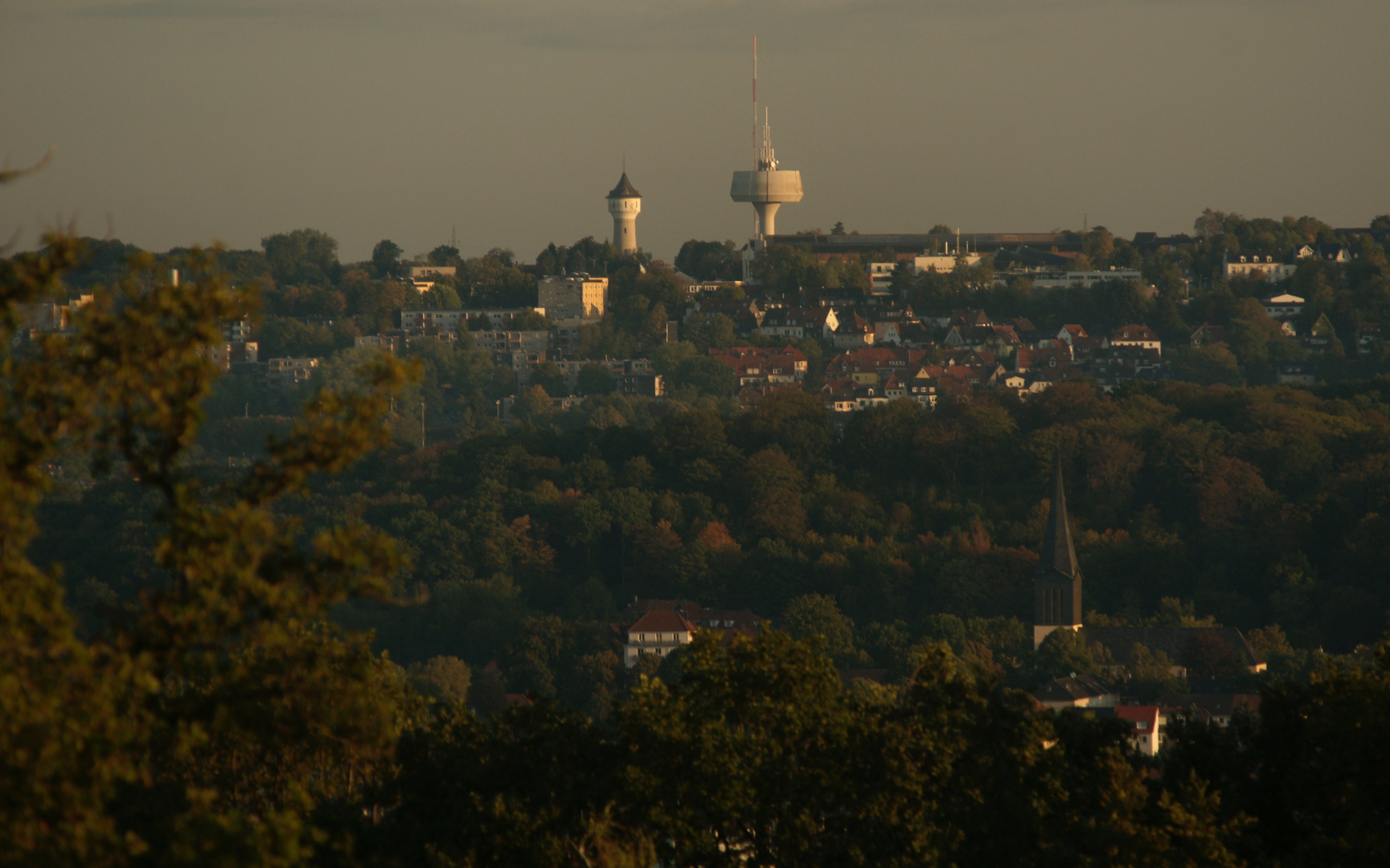 Fernblick zu den Wassertürmen-Wuppertal