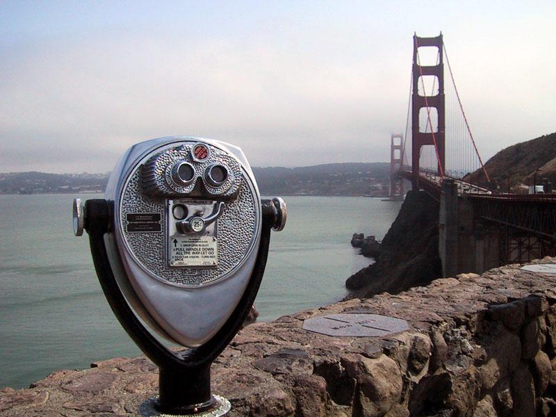 Fernglas an der Golden Gate