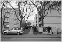Fernmeldearbeiten - Eine Szene aus der Vorstadt