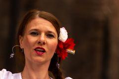Ferrara 2014 Eine von zwei Tänzerinnen aus Spanien