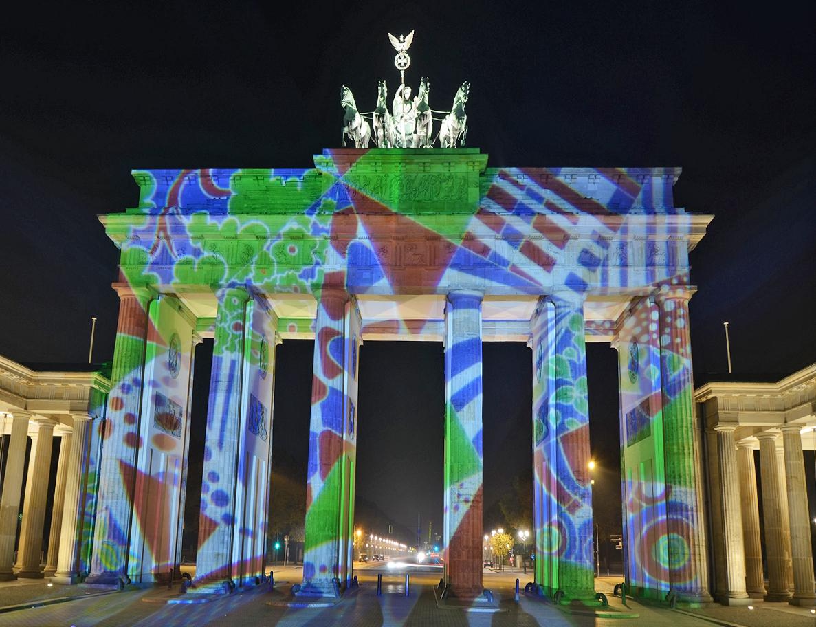 Festival of Lights 2011 / Brandenburger Tor Scheibenwelt