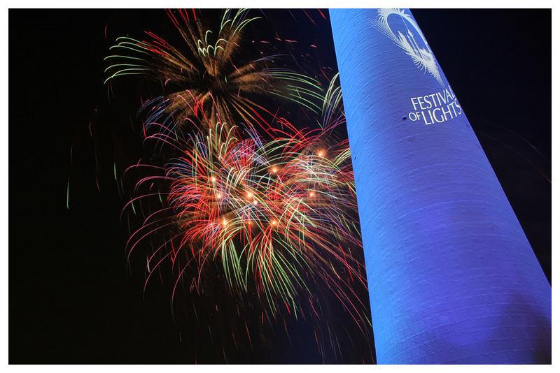 Festival of Lights mit Feuerwerk