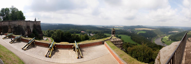 Festung Königstein - Blick über die Georgenbatterie