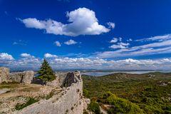 Festungsruine Sveti Mihovil, Insel Ugljan, Dalmatien, Kroatien