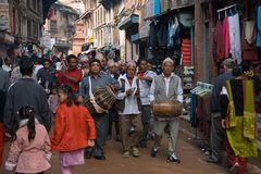 Festzug in Bhaktapur