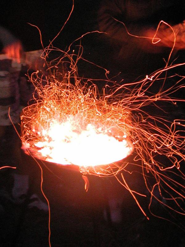 feu de barbecue