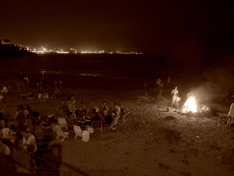Feuer am Strand....