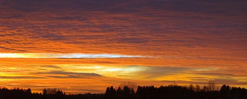 Feuer des Sonnenuntergangs