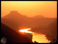 Feuer über der Elbe