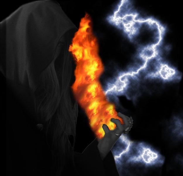Feuer und Blitz