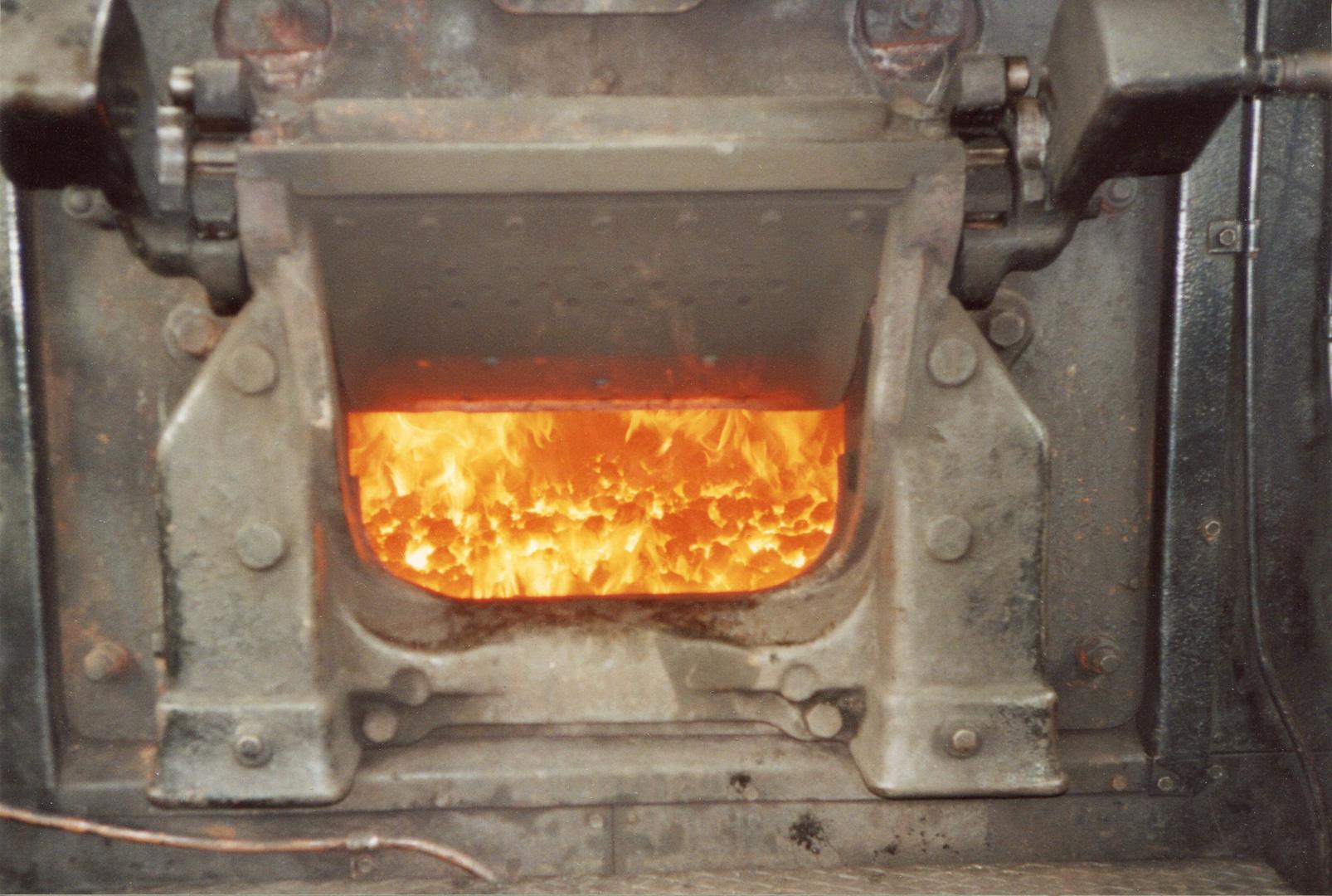 Feuerbüchse der Lok 52 8095