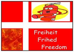 Feuerfeste Freiheits Fahne