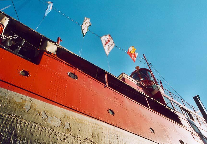 Feuerschiff im Dock
