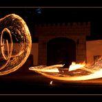 Feuerschwert Tänzer