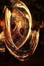 Feuertanz auf dem Mittelaltermarkt