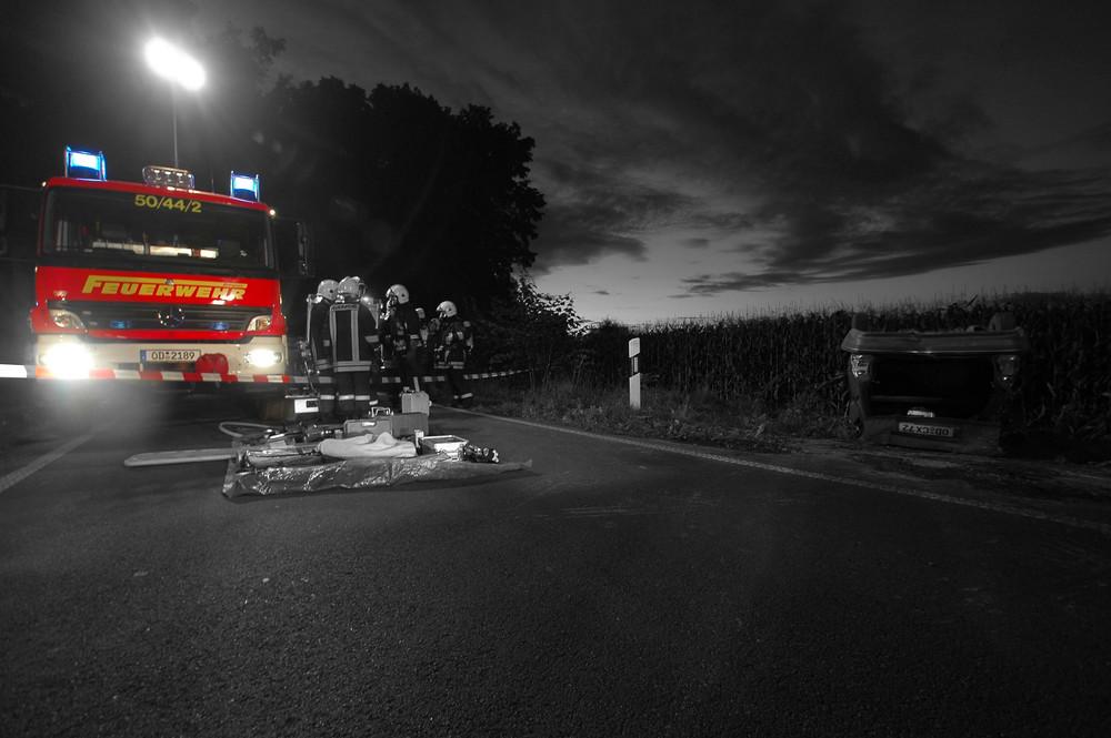 Feuerwehr Bargteheide beim Unfall (Übung)