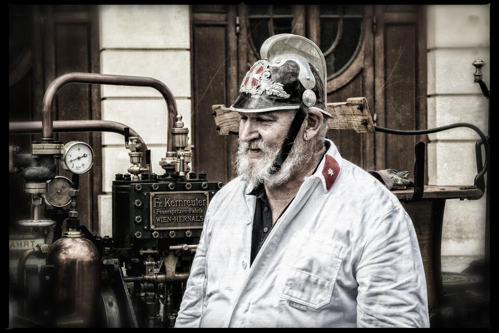 Feuerwehrmann anno Dazumal