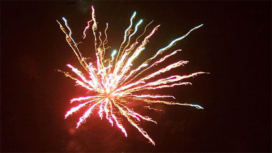 Feuerwerk 2009 - Raketenexplosion