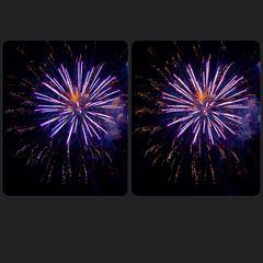 Feuerwerk 3-D