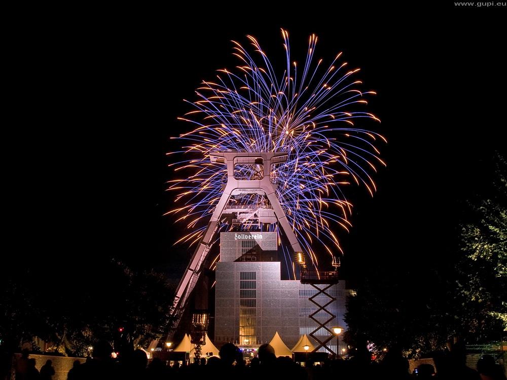 Feuerwerk am 26.09.2009 auf Zollverein, Essen