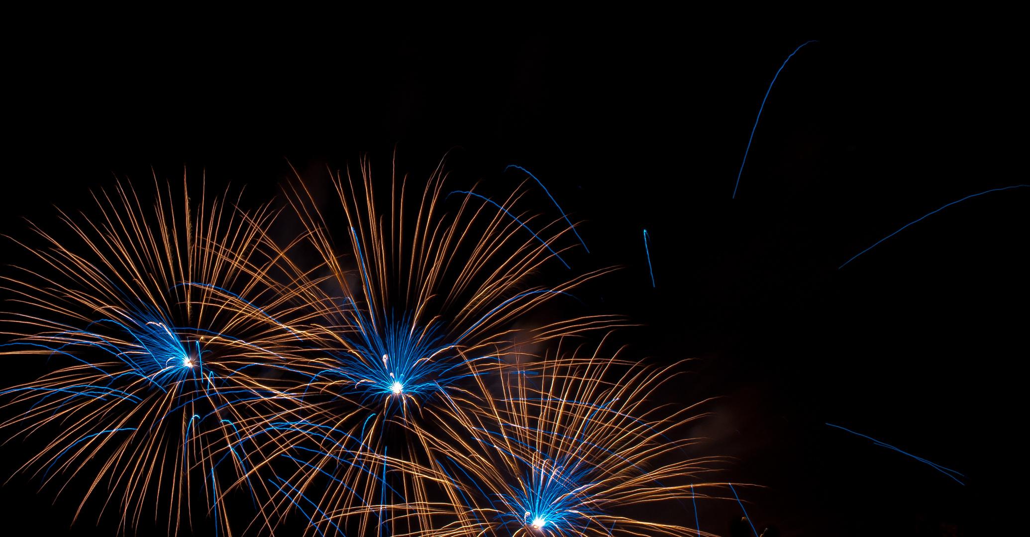 Feuerwerk am BlüBa Ludwigsburg