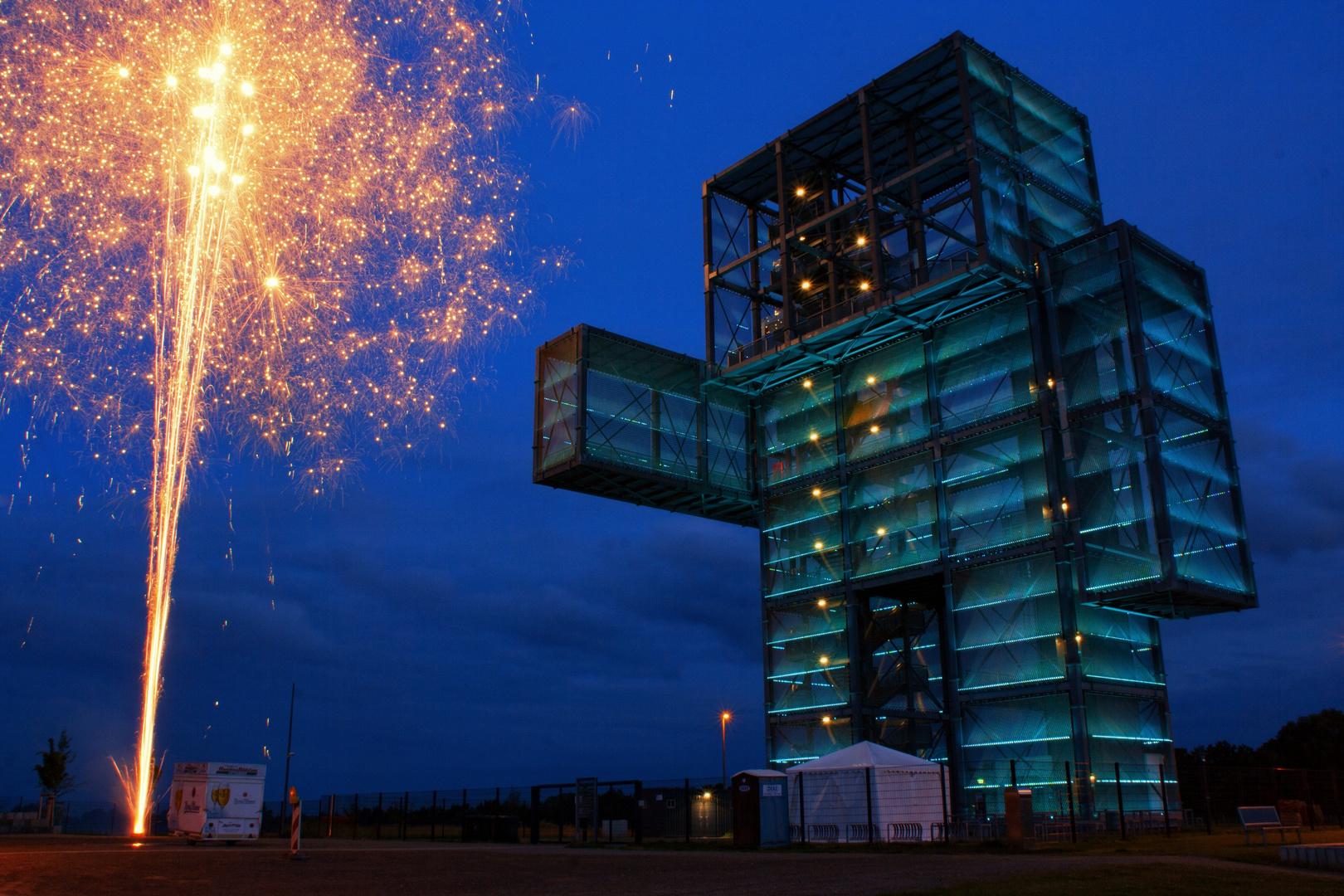Feuerwerk am Indemann