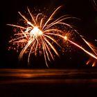 Feuerwerk am Strand von Kuta