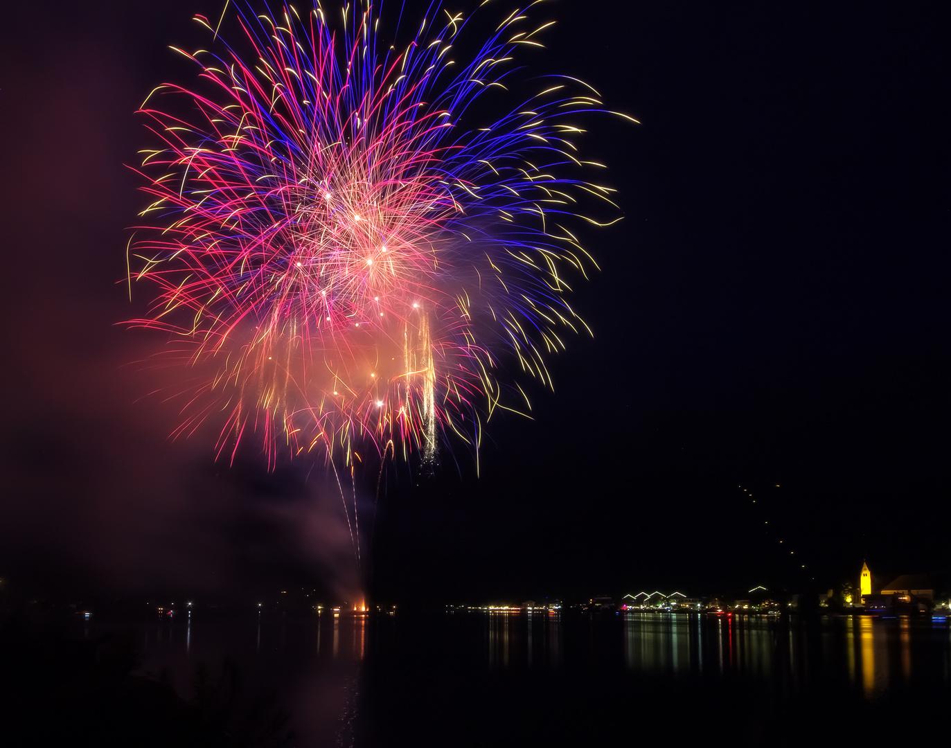 Feuerwerk am Tegernsee