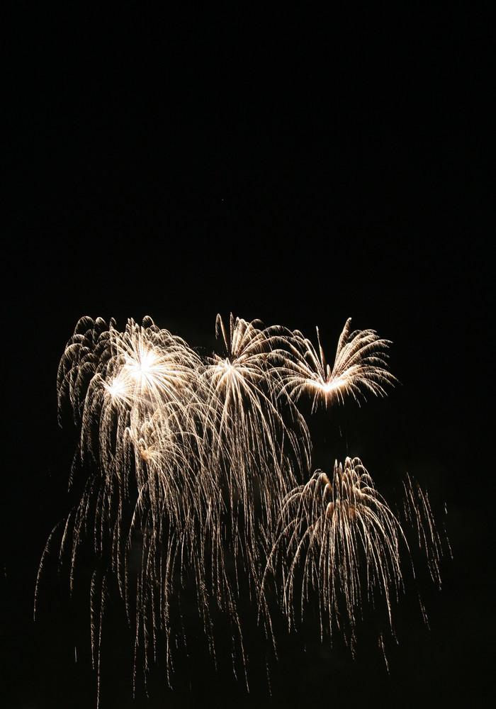 Feuerwerk auf dem Münchner Frühlingsfest