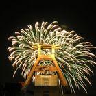 Feuerwerk auf Zollverein