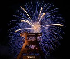 Feuerwerk auf Zollverein Nr.1