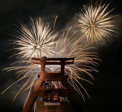 Feuerwerk auf Zollverein Nr.2