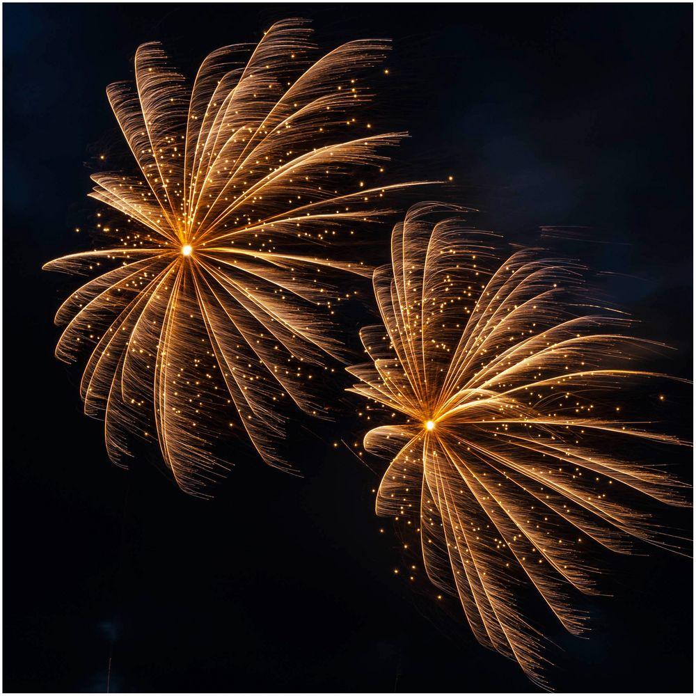 Feuerwerk bei Sturm