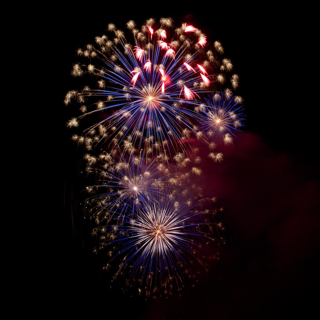 Feuerwerk beim Fischerfest 2010, Gernsheim, Bild 1