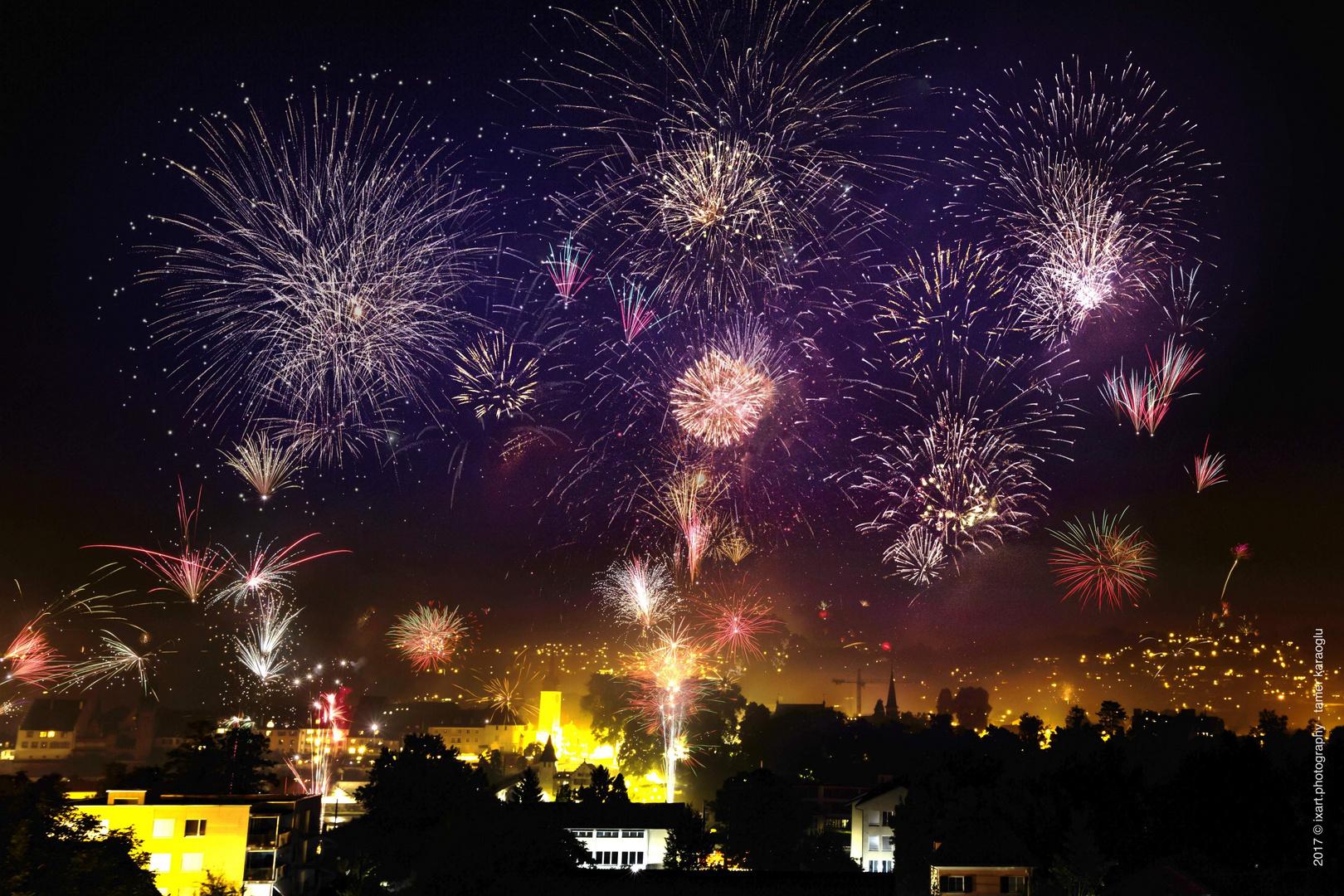 Feuerwerk Bremgarten