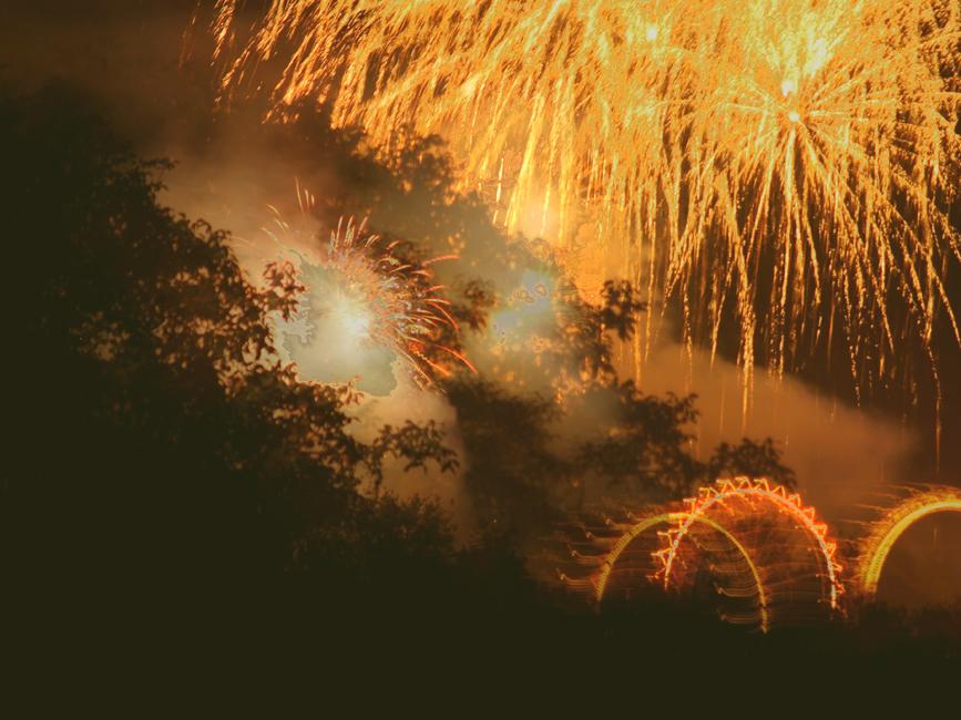 Feuerwerk ...