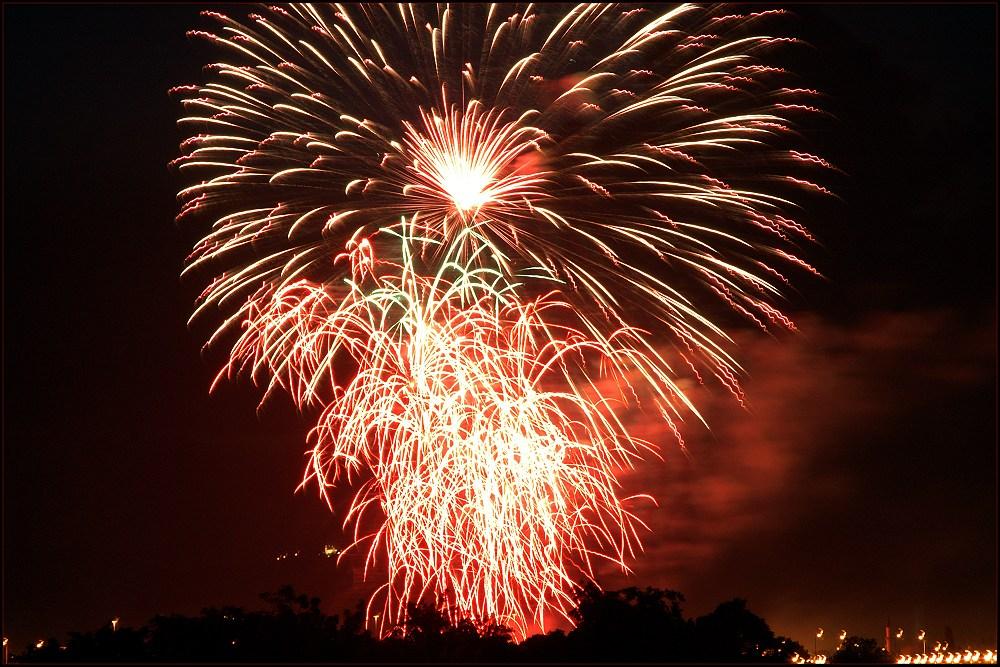 Feuerwerk .