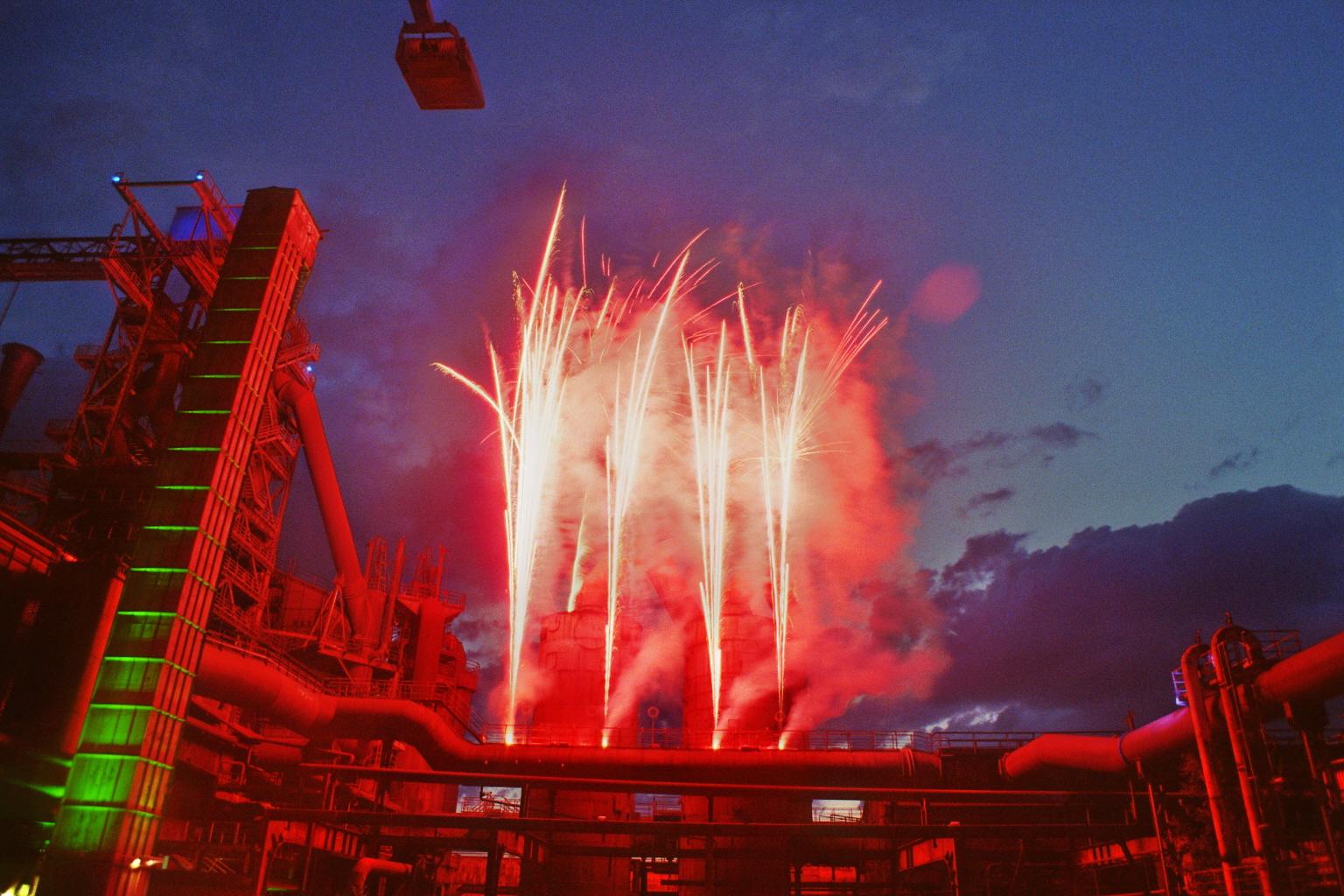 Feuerwerk im Emscher Landschaftspark Duisburg