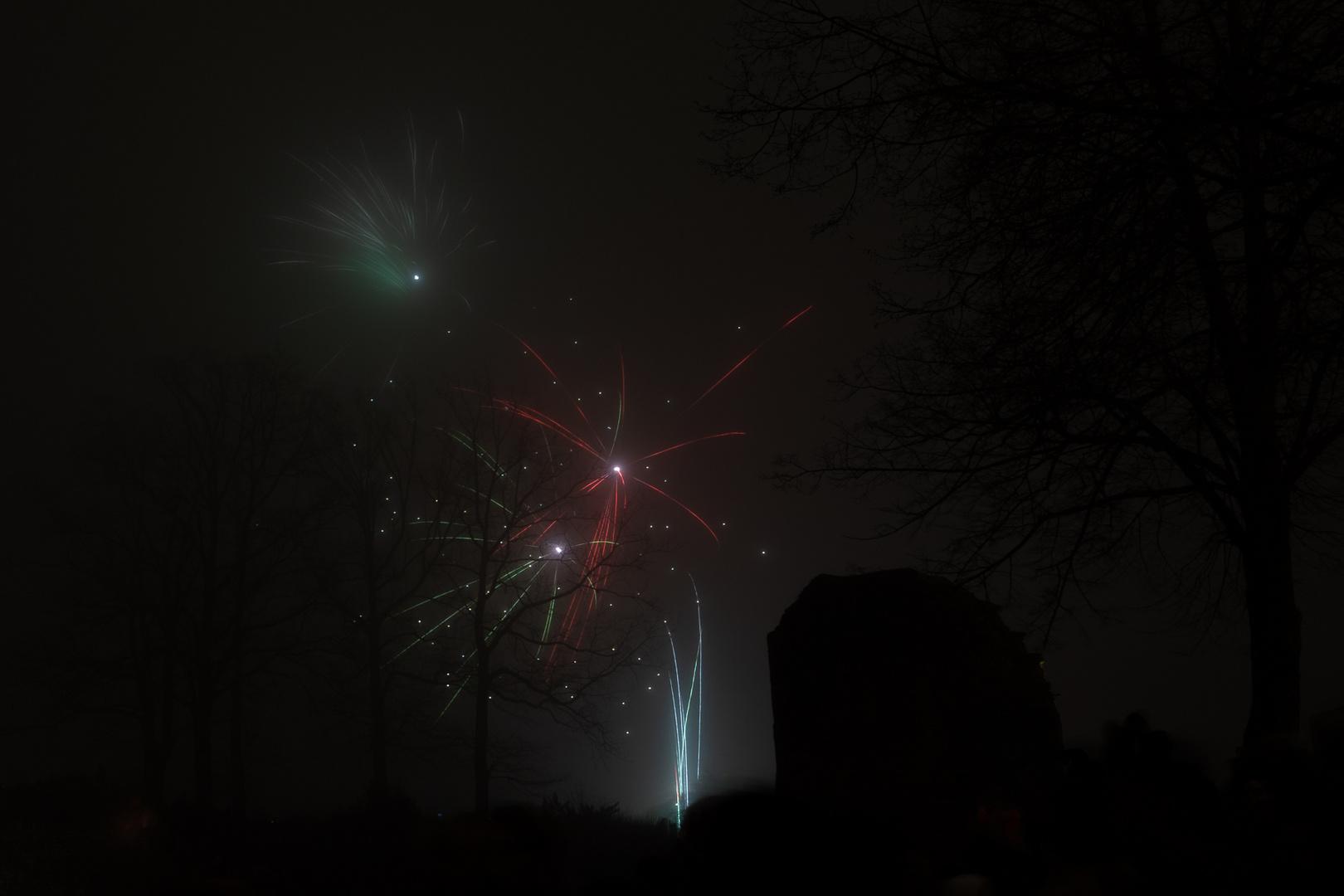 Feuerwerk im Nebel II