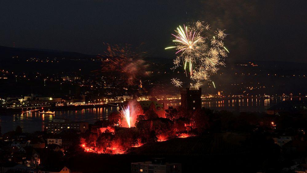 Feuerwerk in Bingen