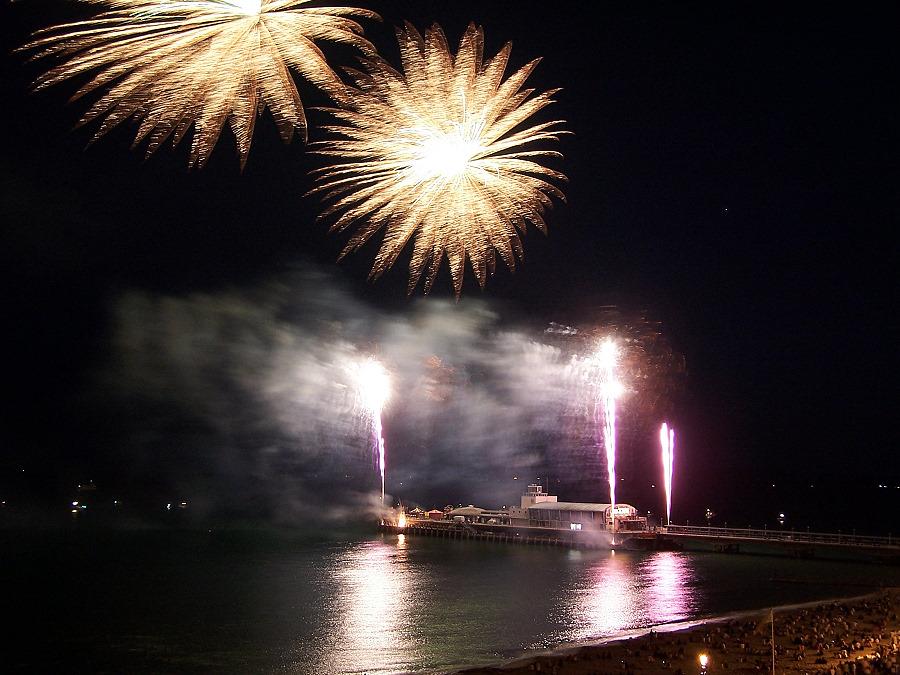 Feuerwerk in Bournemouth