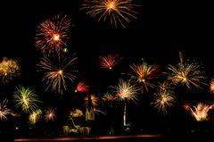 Feuerwerk in Breitenwang