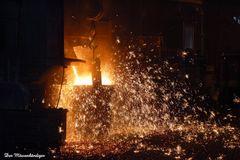 Feuerwerk in der Eisengiesserei