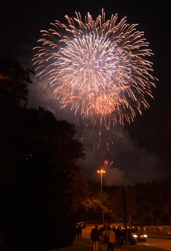 Feuerwerk in Trier..