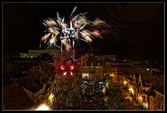 Feuerwerk mit Schloss