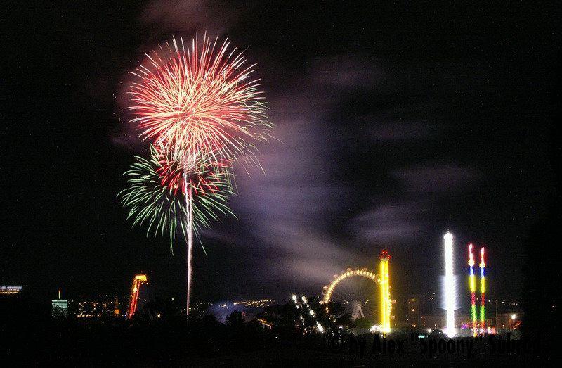 Feuerwerk Praterfest 2004
