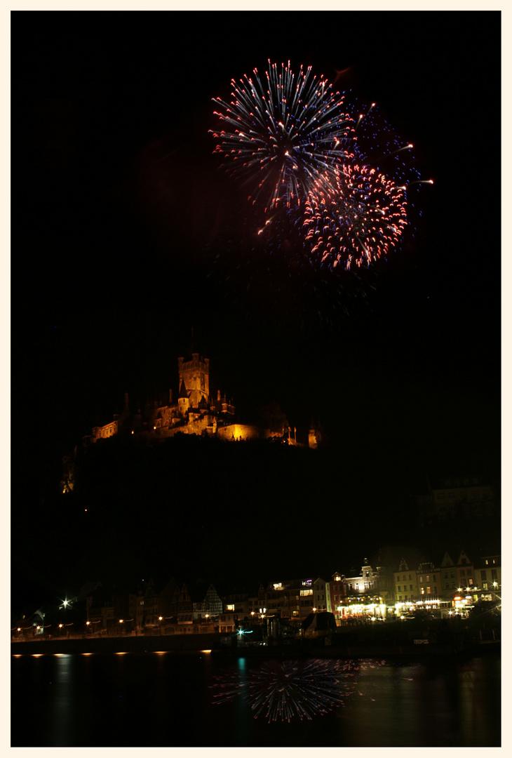 Feuerwerk über Cochem